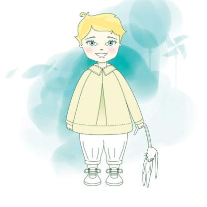Patron couture Bébé - Brassière à manches raglan - PERSÉE