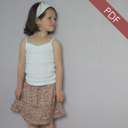Patron couture Jupe Enfant - La jupette à smocks d'Anne-Charlotte