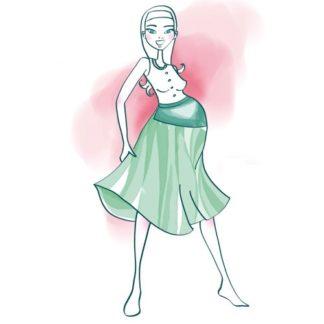 Patron couture jupe grossesse - Jupe de grossesse évasée ANDROMAQUE