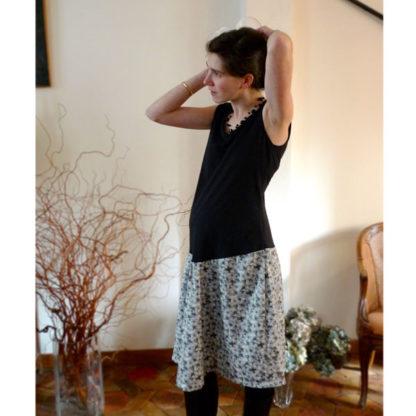 Patron couture robe grossesse à volants - PÉNÉLOPE
