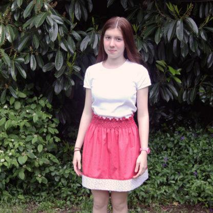Patron couture jupe ado - La jupette d'Anne-Charlotte version ado