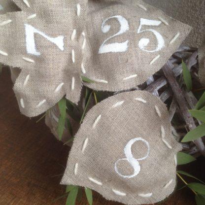 Couture calendrier avent - Calendrier de l'Avent en tissu