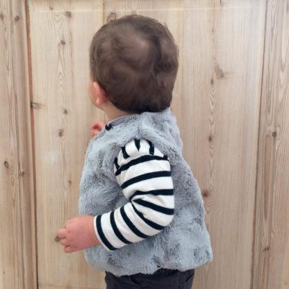 Patron couture gilet Bébé, sans manches - ÉRIDAN