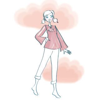 Patron couture Blouse femme à manches pagodes - THÉTIS