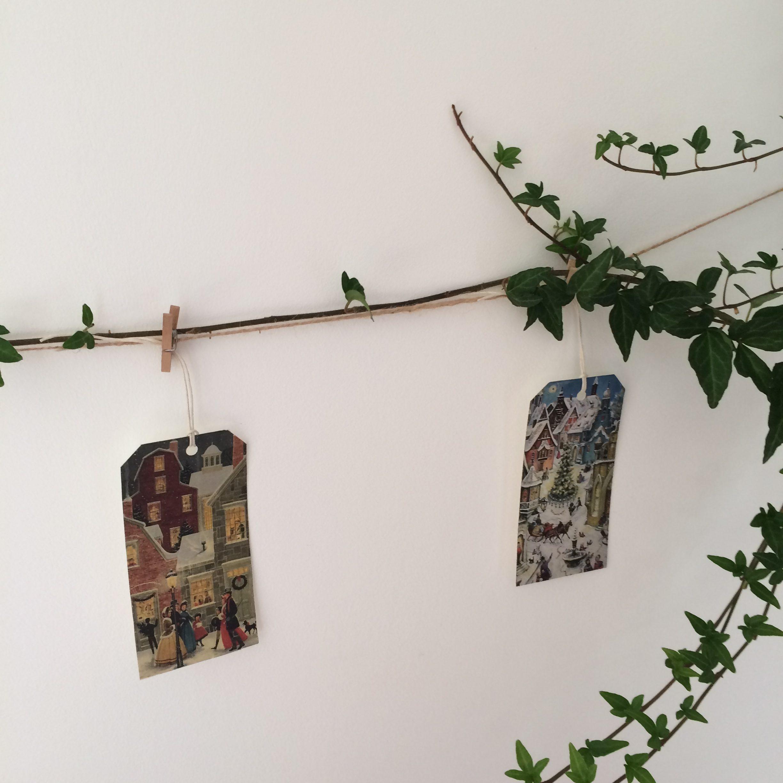 bricolage diy - calendrier de l'avent vintage - christmas cards